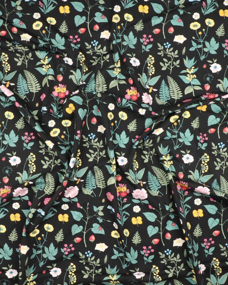 Blomster på sort - Jersey -