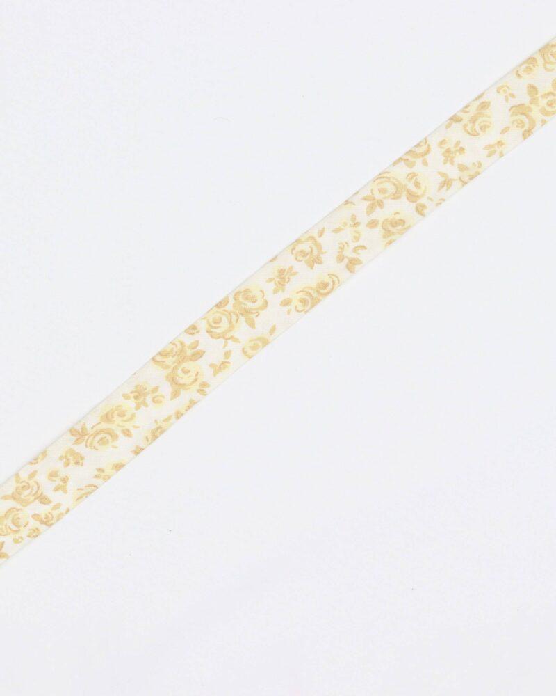 Karryfarvet blomster - 20 mm skråbånd -