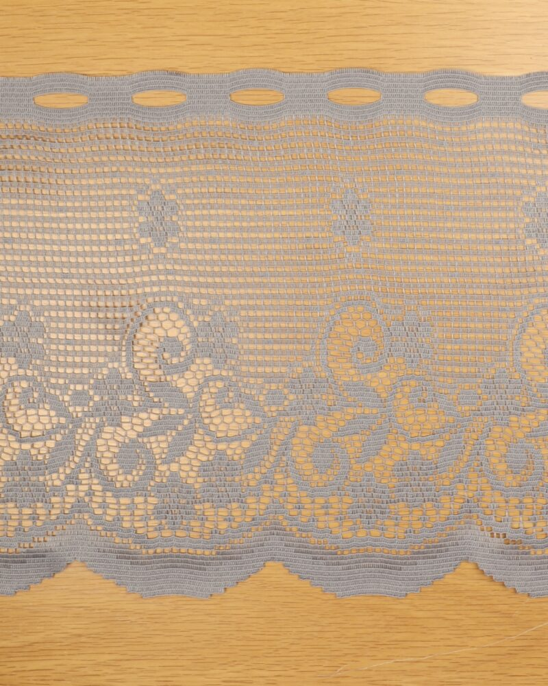 Cafégardin, Grå - 36 cm høj -