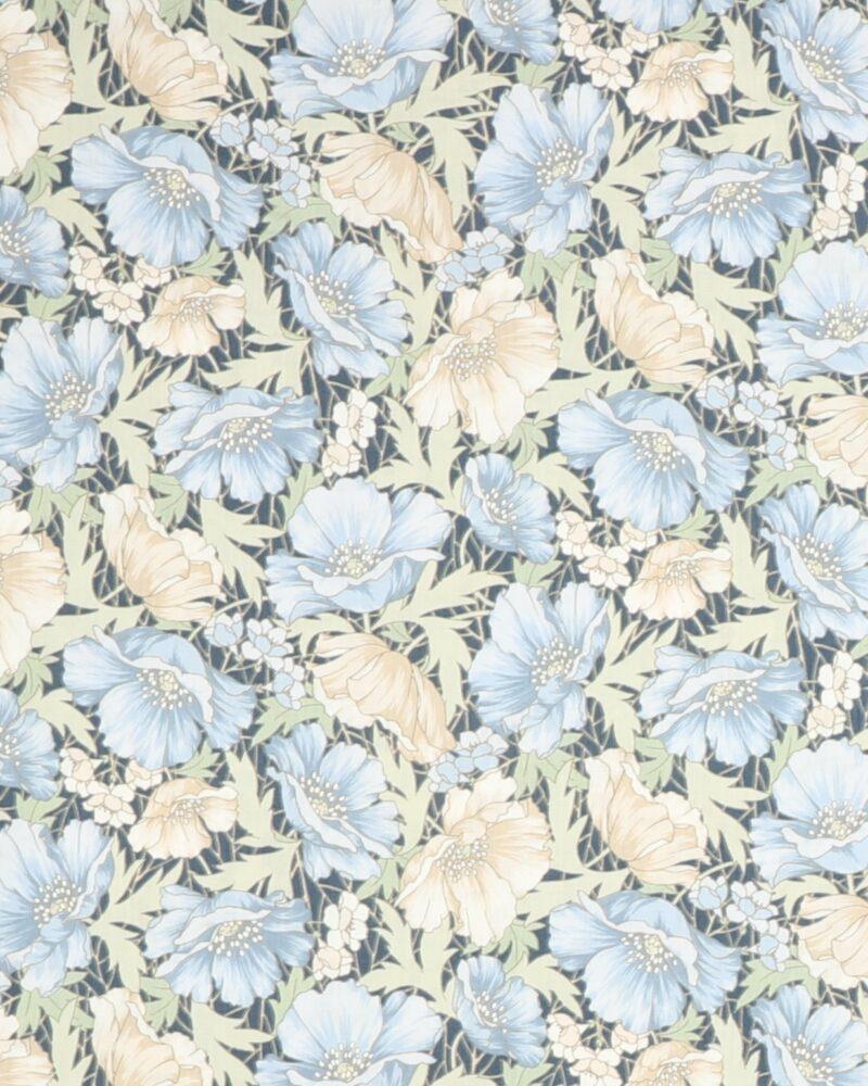 Blå franske anemoner fra Kokka - Patchwork -