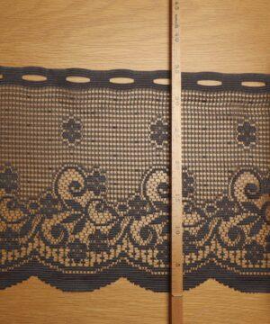 Cafégardin, Mørkegrå - 36 cm høj - Info mangler