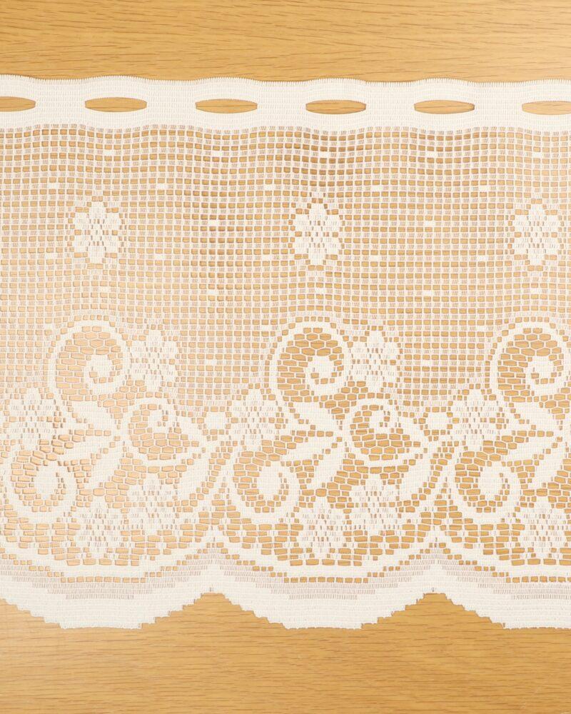 Cafégardin, Flødefarvet - 36 cm høj -
