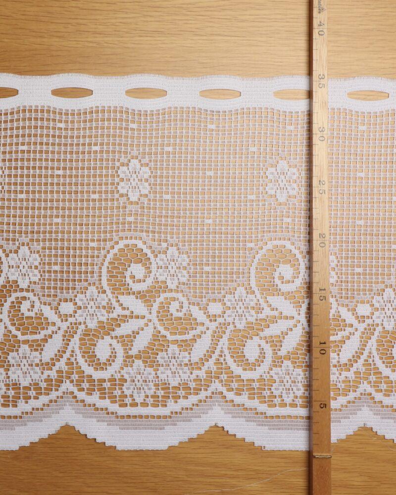 Cafégardin, Hvid - 35 cm høj -