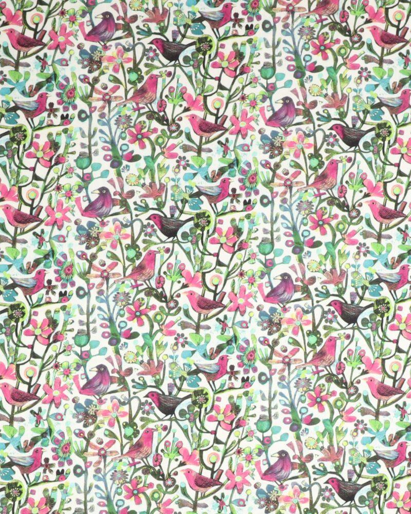 Alfie, Blomster og fugle - Patchwork -