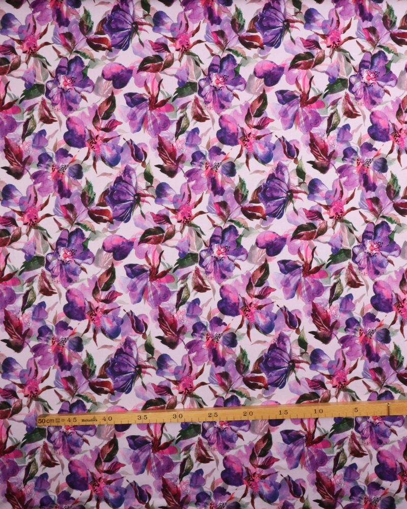 Lilla blomster - Jersey -
