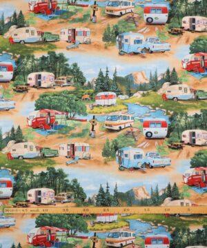Retro camping - Patchwork -