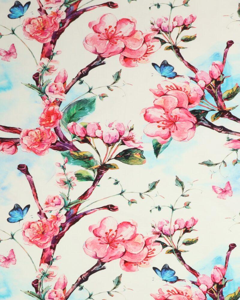 Blomster og sommerfugle - Jersey -