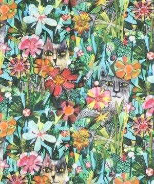 Alfie, Kat blandt blomster - Patchwork - Info mangler