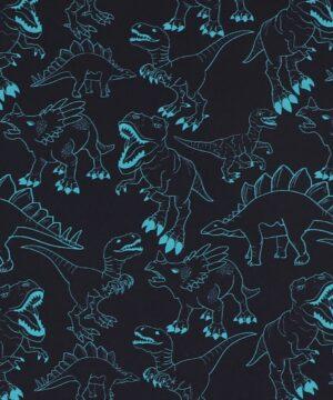 Dinoer på blå - Jersey -