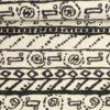 Sort mønster på offwhite - French Terry -
