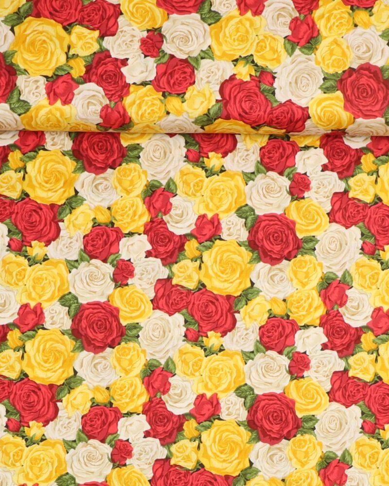 Summer Garden Rose Bouquet 1 - Patchwork -