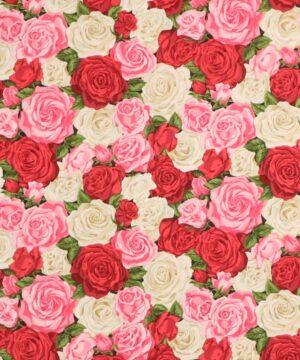 Summer Garden Rose Bouquet 2 - Patchwork -