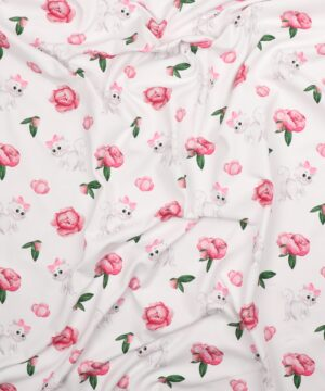 Sød kattekilling og roser - Jersey
