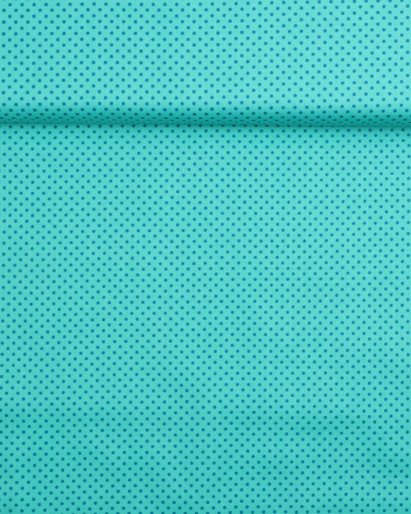 Prikker mørk mint/blå- Patchwork - Info mangler