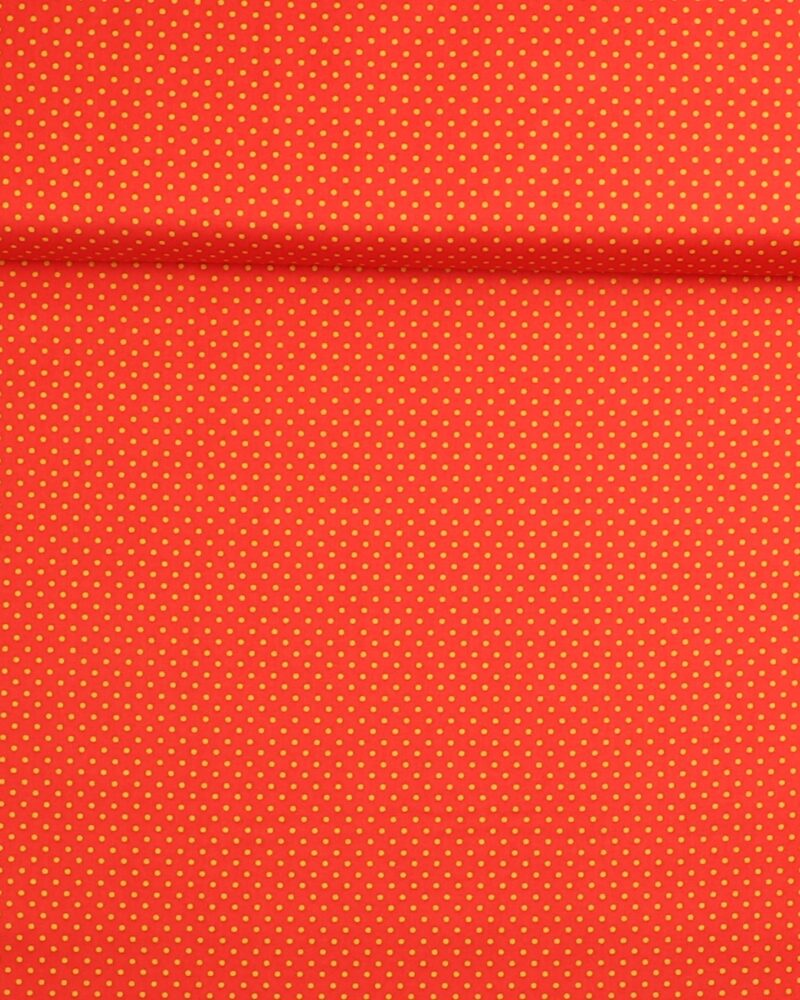 Prikker Rød/gul- Patchwork -