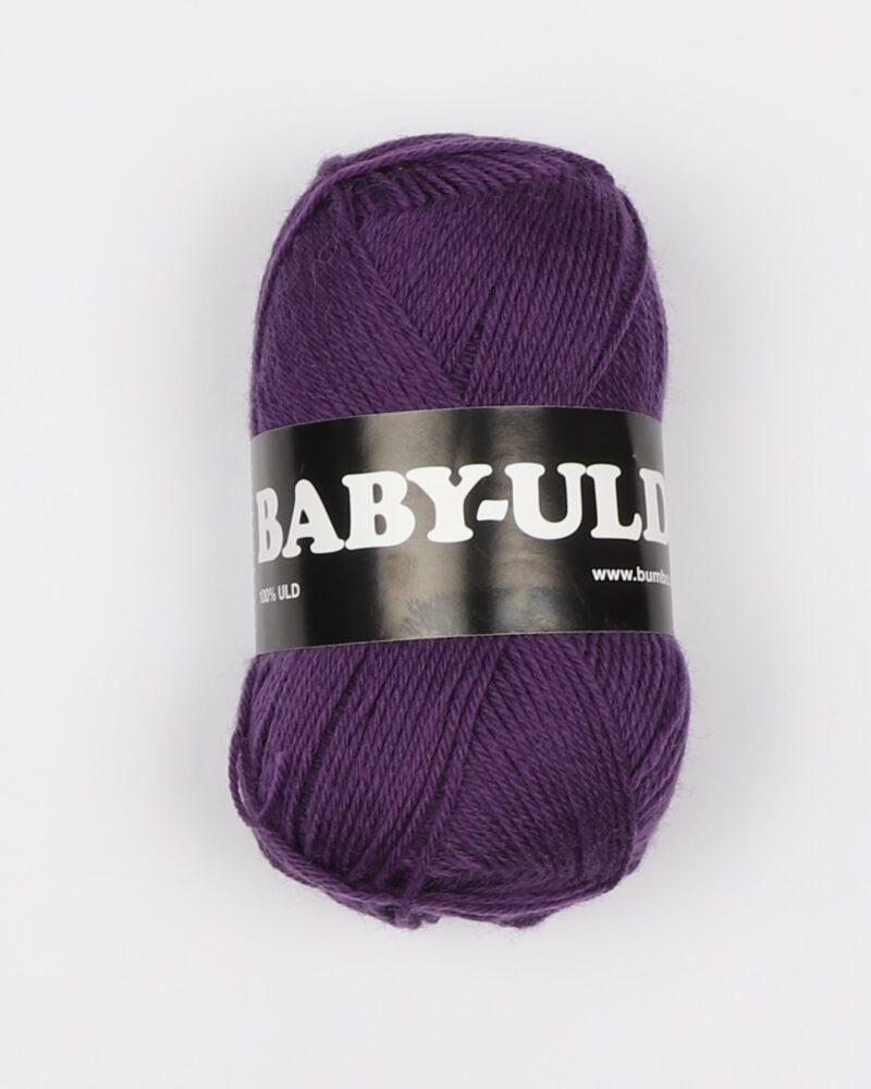 Baby-uld, Lilla - 100% uld -