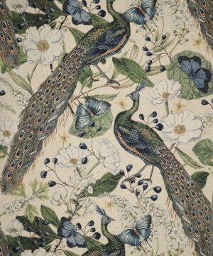 Påfugle - Møbelstof -