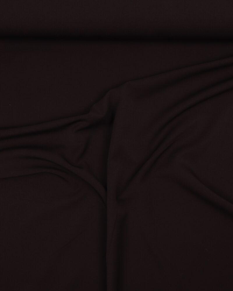 Mørkebrun - Polyester m. stræk - Info mangler