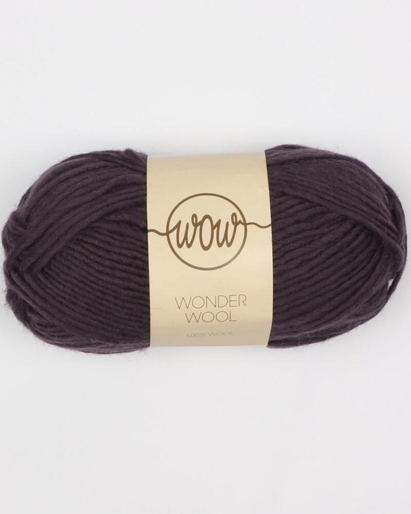 Wonder Wool, Aubergine- 100% uld - Info mangler