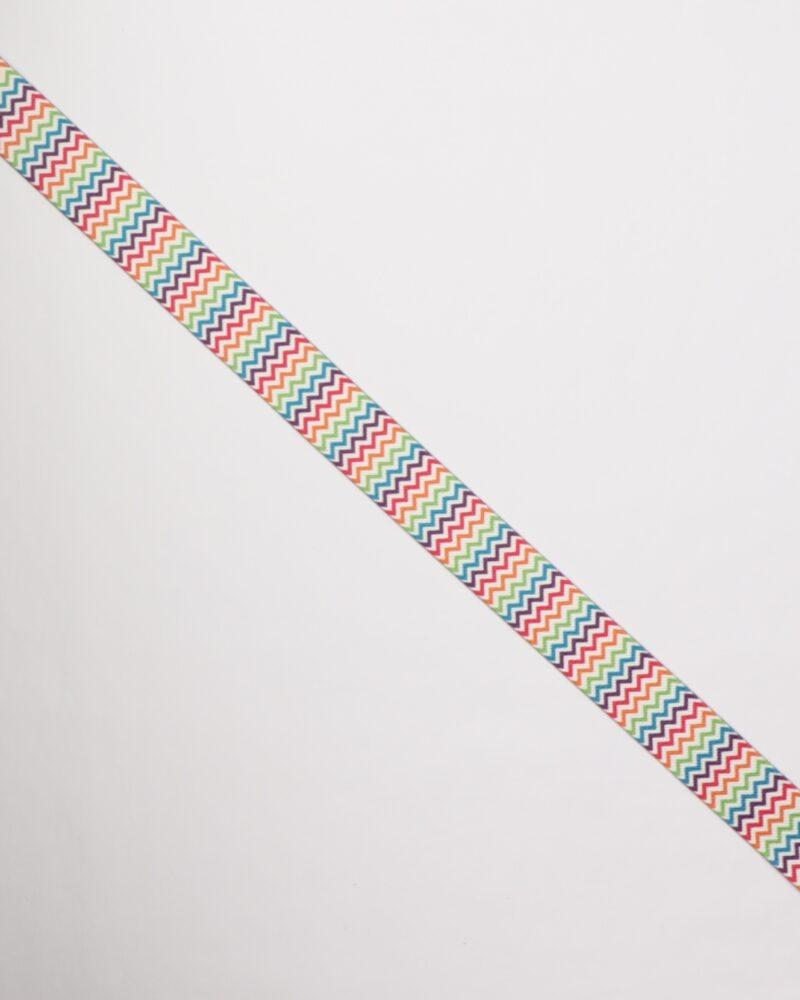 Zig zag mønstret elastik, 25 mm -