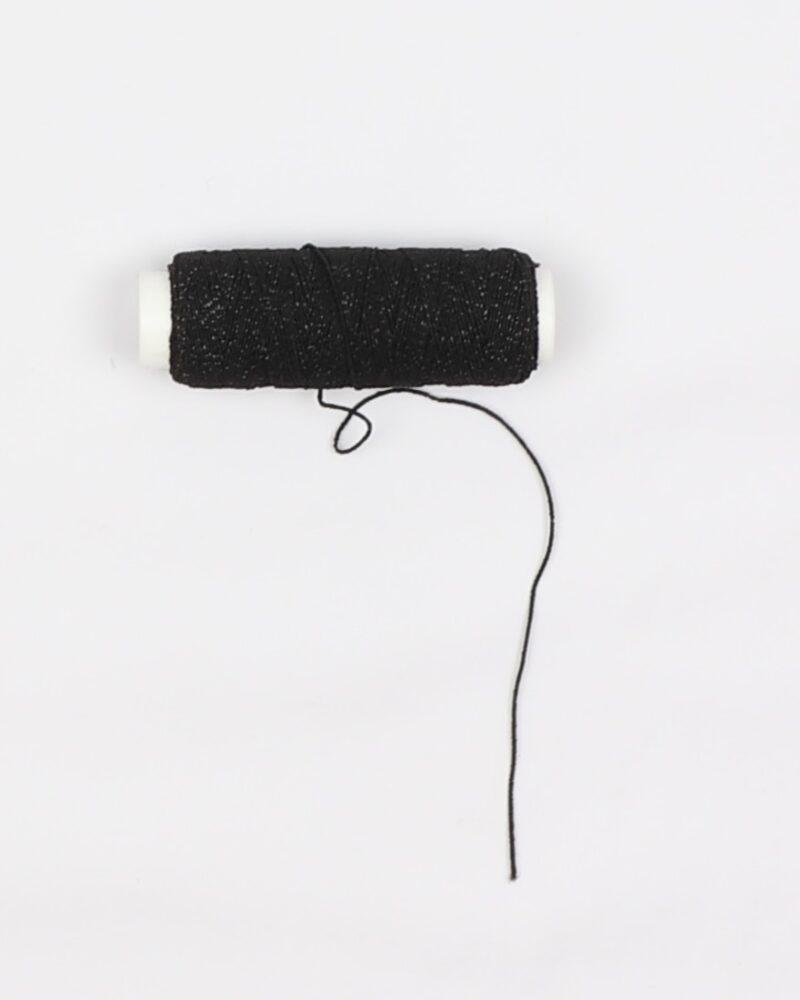 Elastik tråd, sort (Smocktråd) -