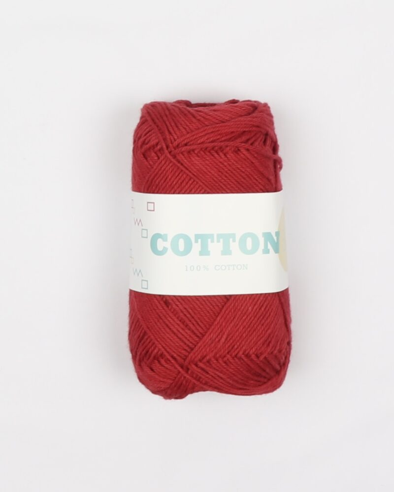 Cotton 8/4, rød - 100% Bomuld -
