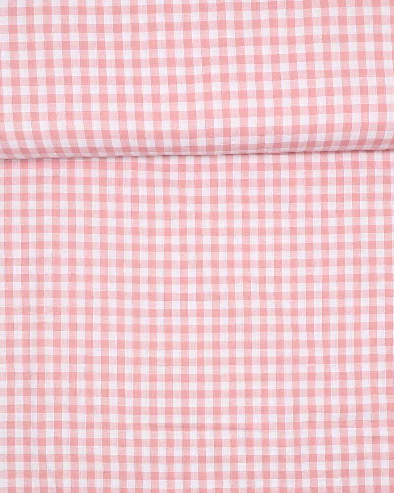 10x10 mm Tern, rosa/hvid - Bomuld -