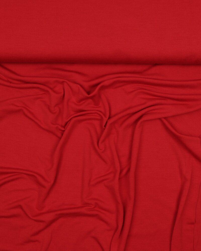 Rød uld jersey - Uld/polyester - Info mangler