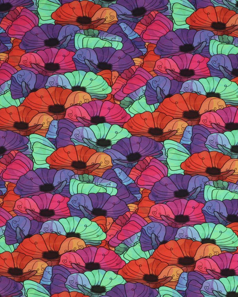 Store farverige blomster - Jersey -