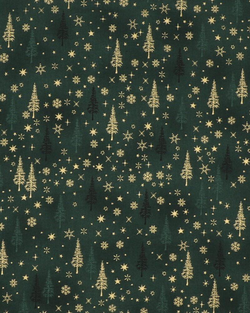 Christmas is near, Grøn m. guld - Patchwork -