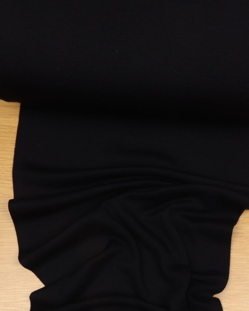 Mørkeblå uld jersey - Uld/polyester -