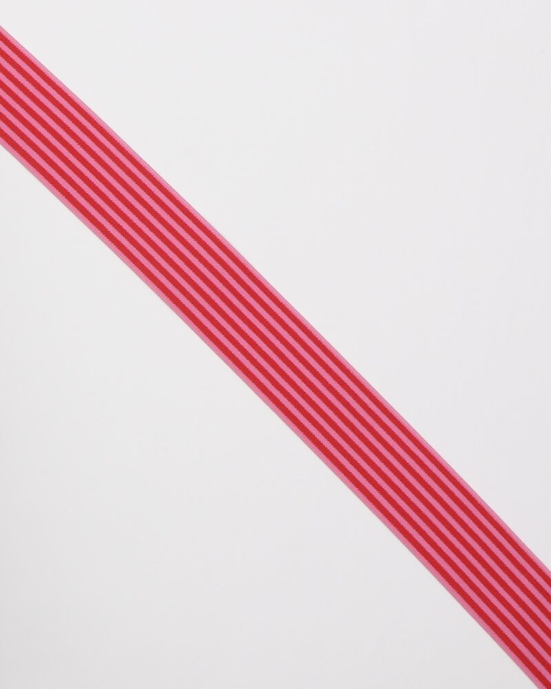 Striber, rød/pink - 40 mm elastik -