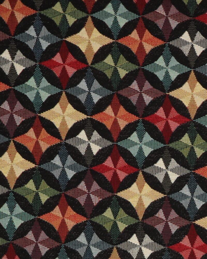 Multifarvet mønster - Møbelstof -