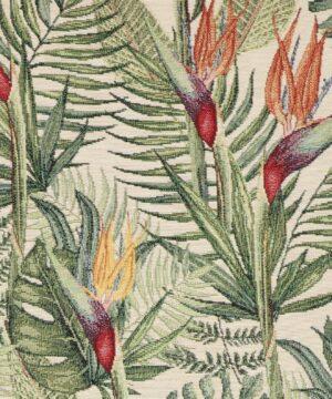 Blomster og blade - Møbelstof -