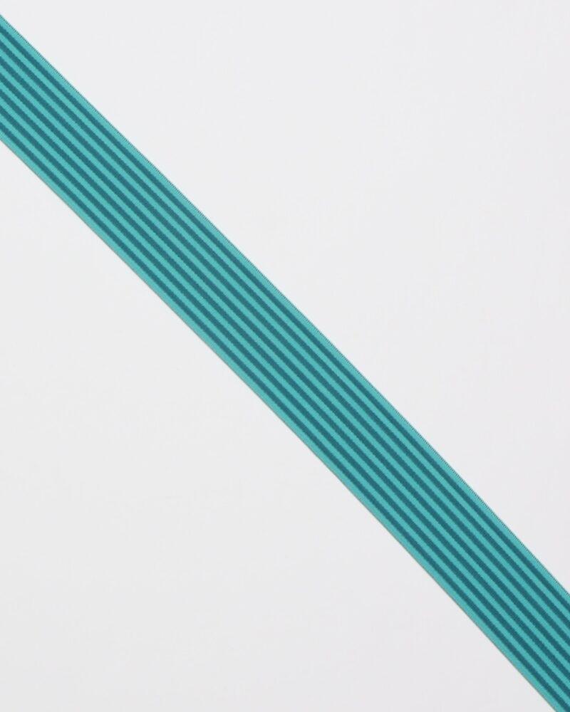 Striber, petrol/lys petrol - 40 mm elastik -