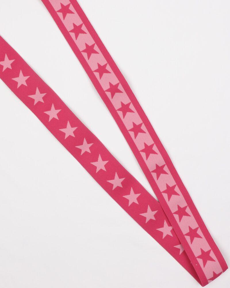 Stjerner, Pink/lyserød - 35 mm elastik -
