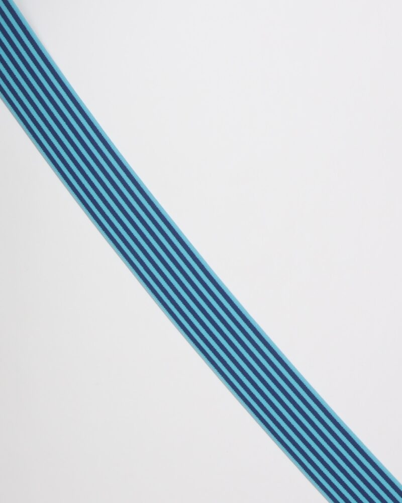 Striber, blå/turkis - 40 mm elastik -
