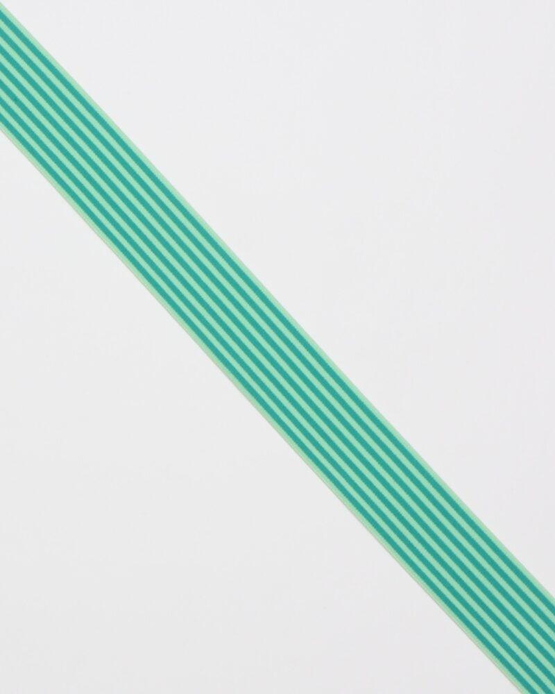 Striber, grøn/lime - 40 mm elastik -