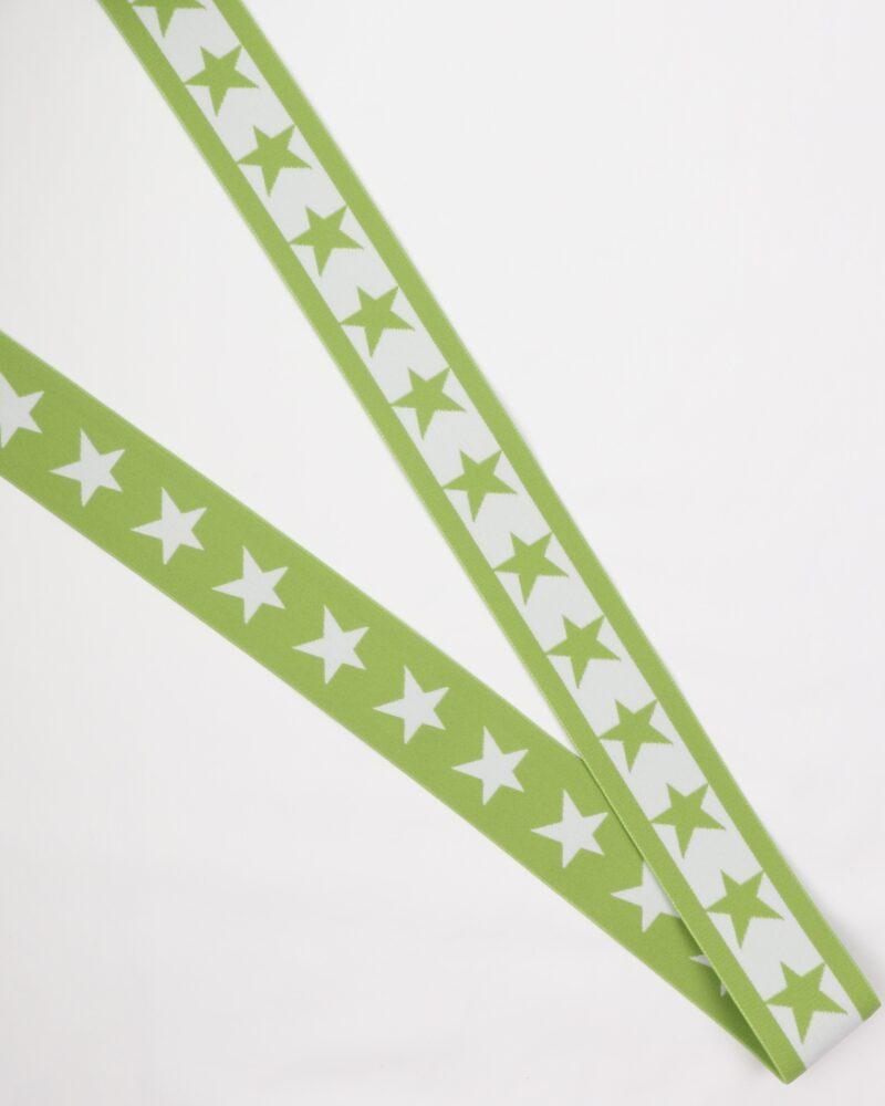 Lime elastik med stjerne -