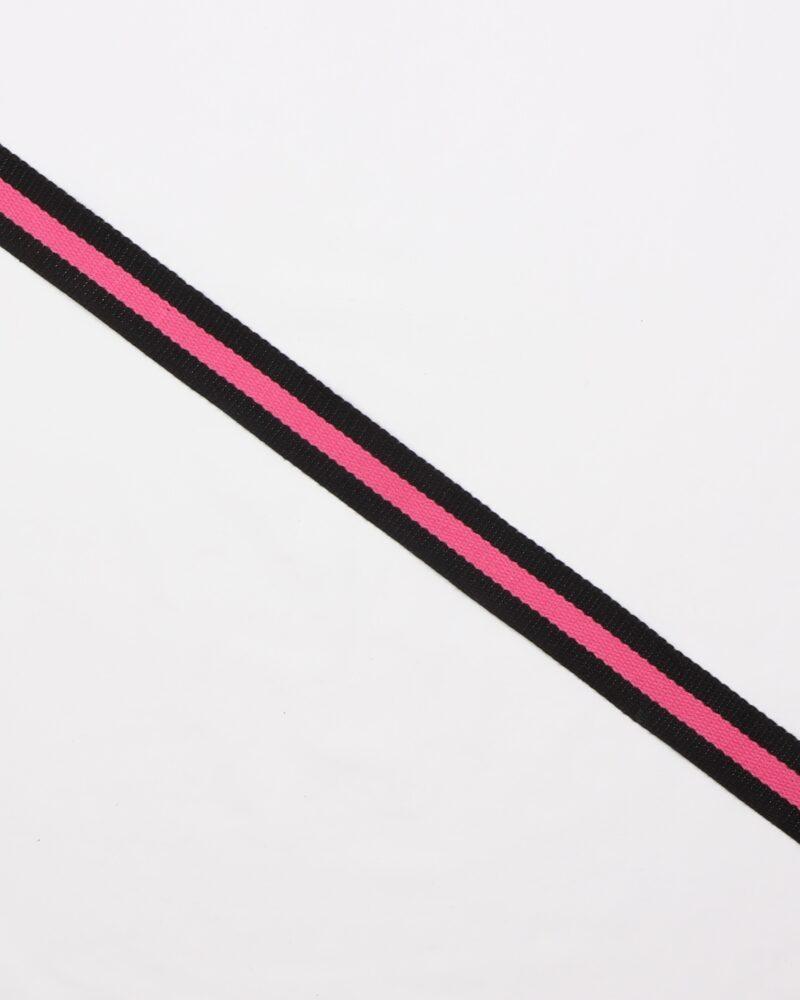 Sort/pink - Gjordbånd 30 mm -
