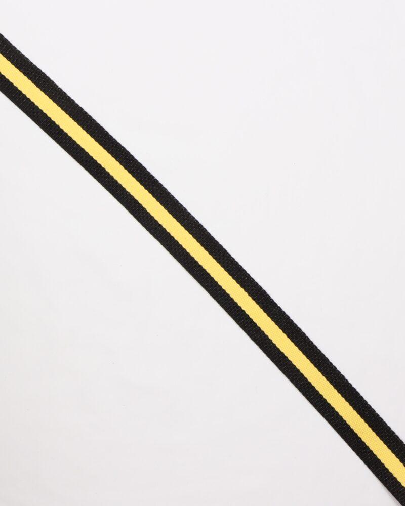 Sort/gul - Gjordbånd 30 mm -
