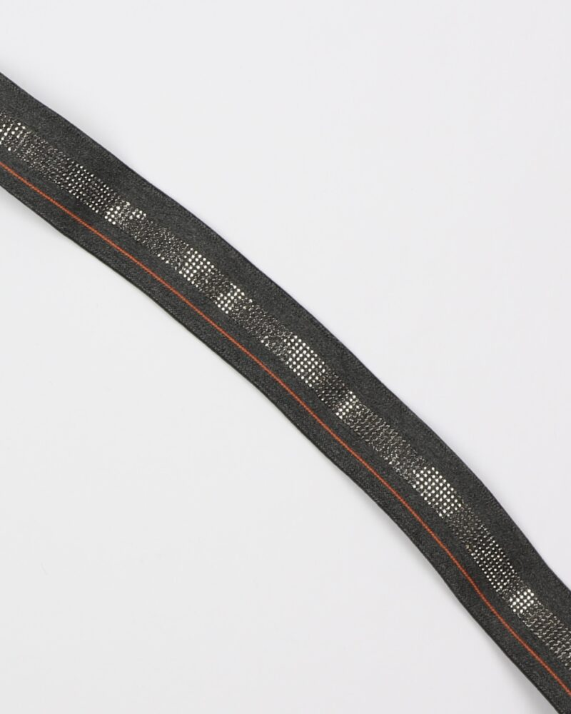 Bling, grå m. orange stribe - 40 mm elastik -