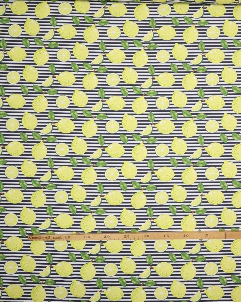 Citroner på striber - Boligtekstil -
