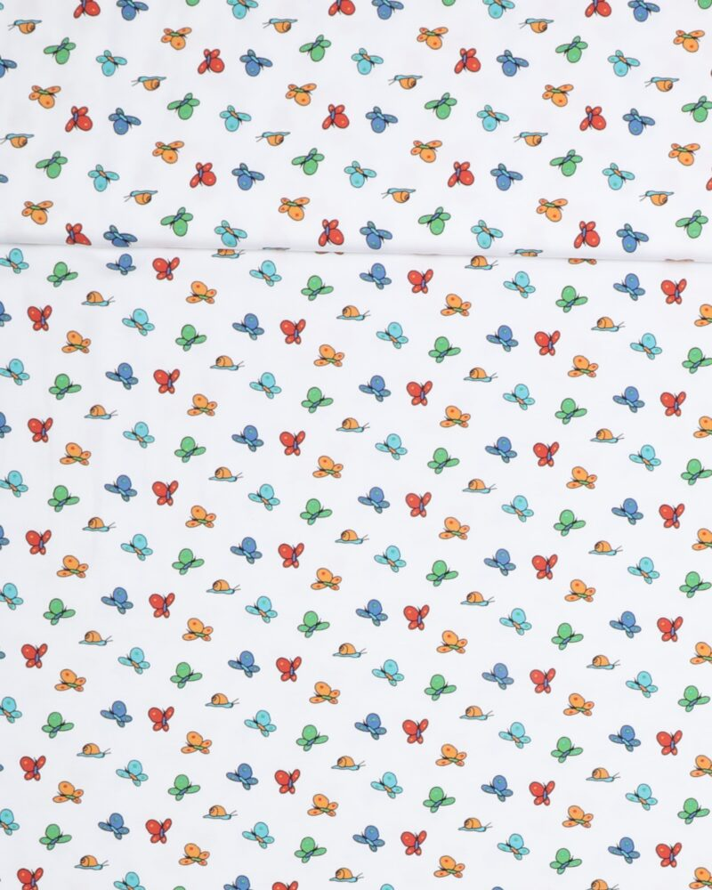 Sommerfugle på hvid bund - Jersey -