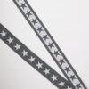 Stjerner, Grå/hvid - 35 mm elastik -