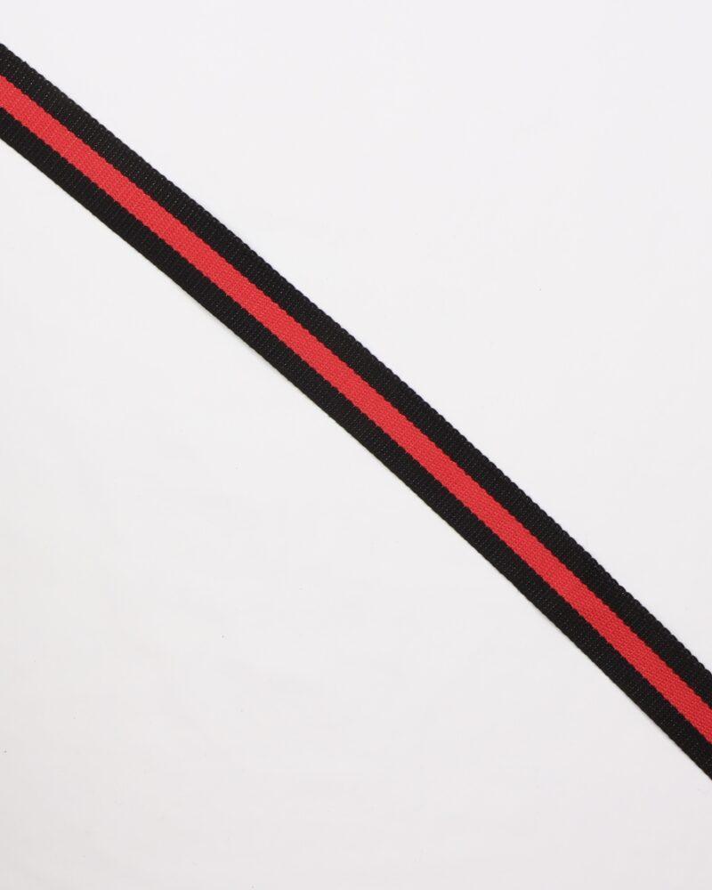 Sort/rød- Gjordbånd 30 mm -
