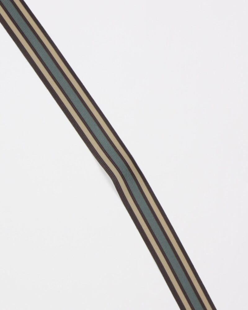 Striber, sort/beige/armygrøn - 35 mm elastik -