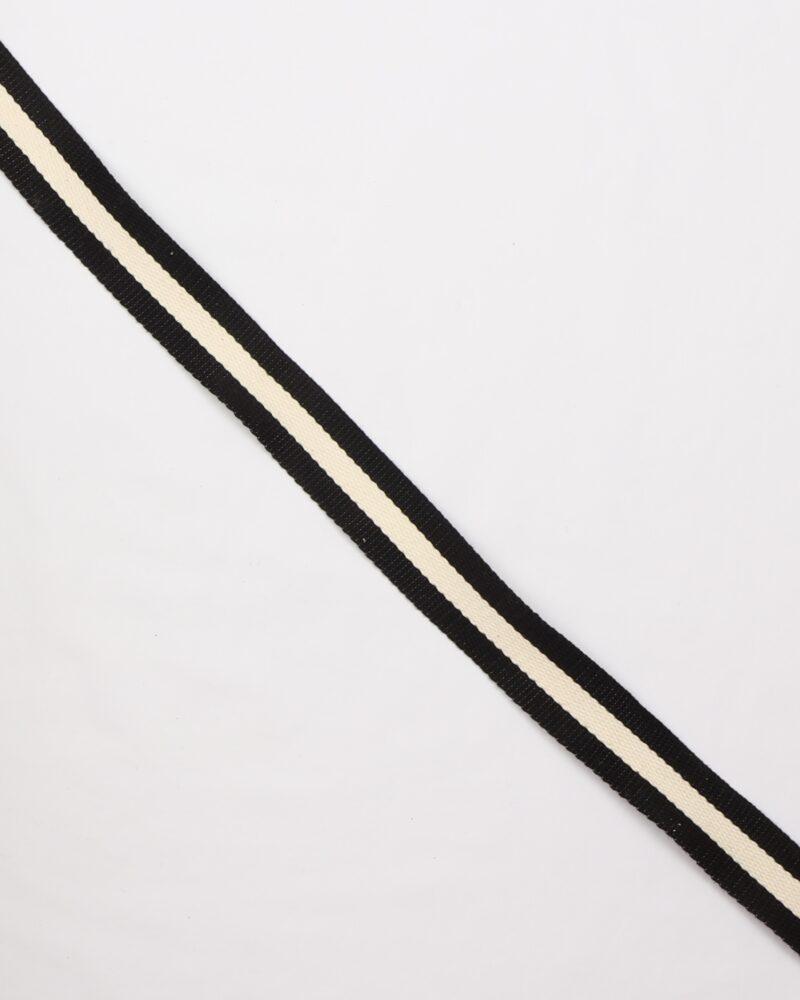 Sort/flødefarvet- Gjordbånd 30 mm -