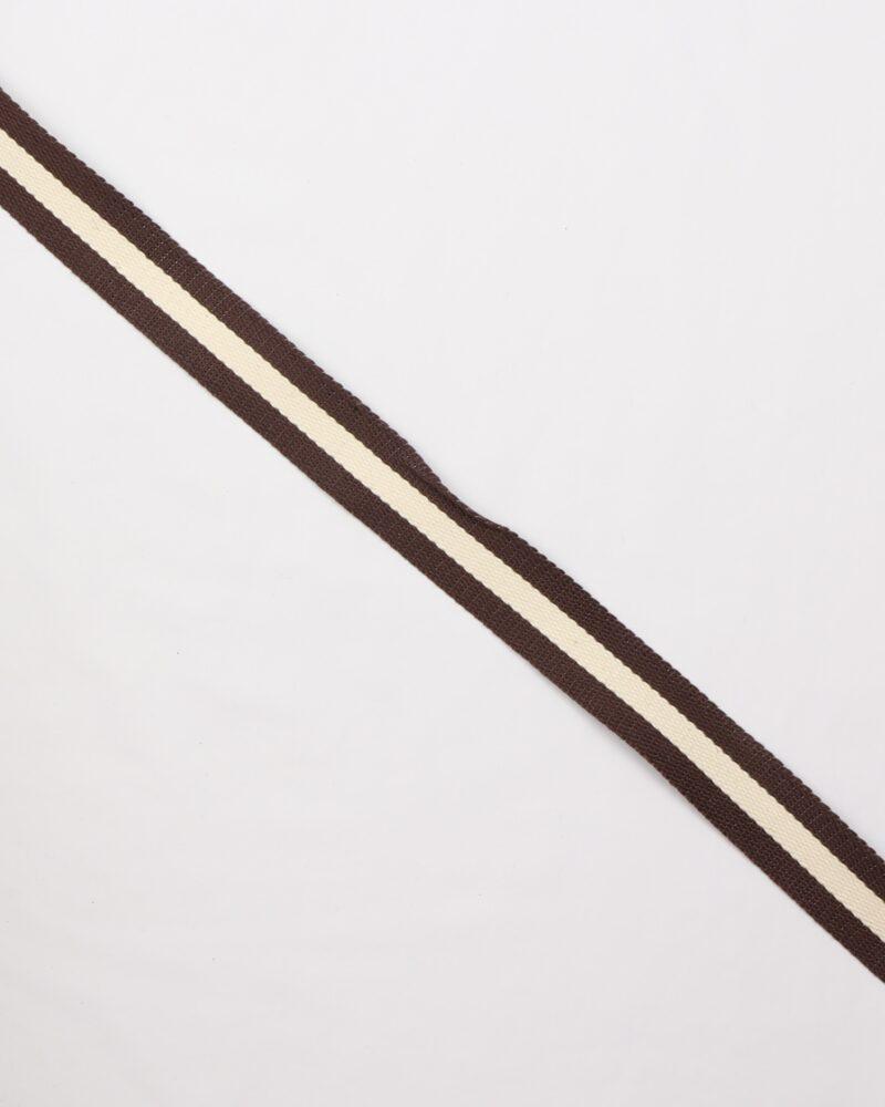 Brun/flødefarvet - Gjordbånd 30 mm -