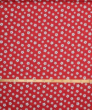 Fodbolde på rød bund - Patchwork -
